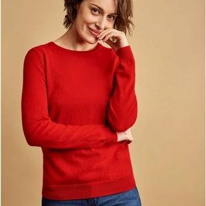Leo & Sage 100% cashmere body cropped sweater S